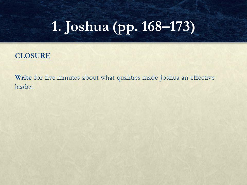 1. Joshua (pp.