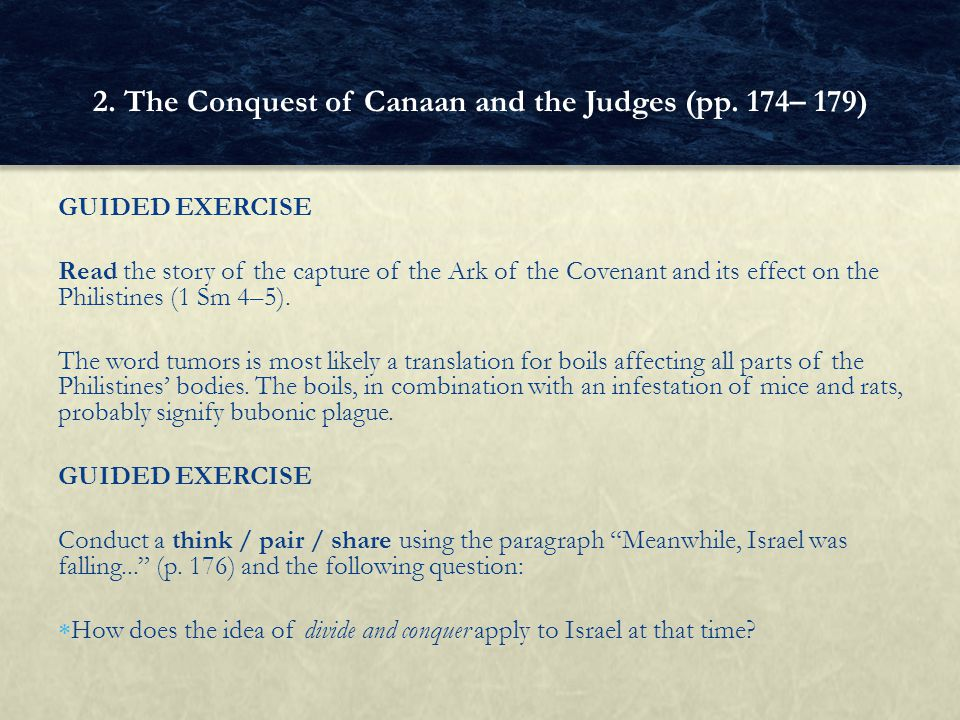 2. The Conquest of Canaan and the Judges (pp. 174– 179)