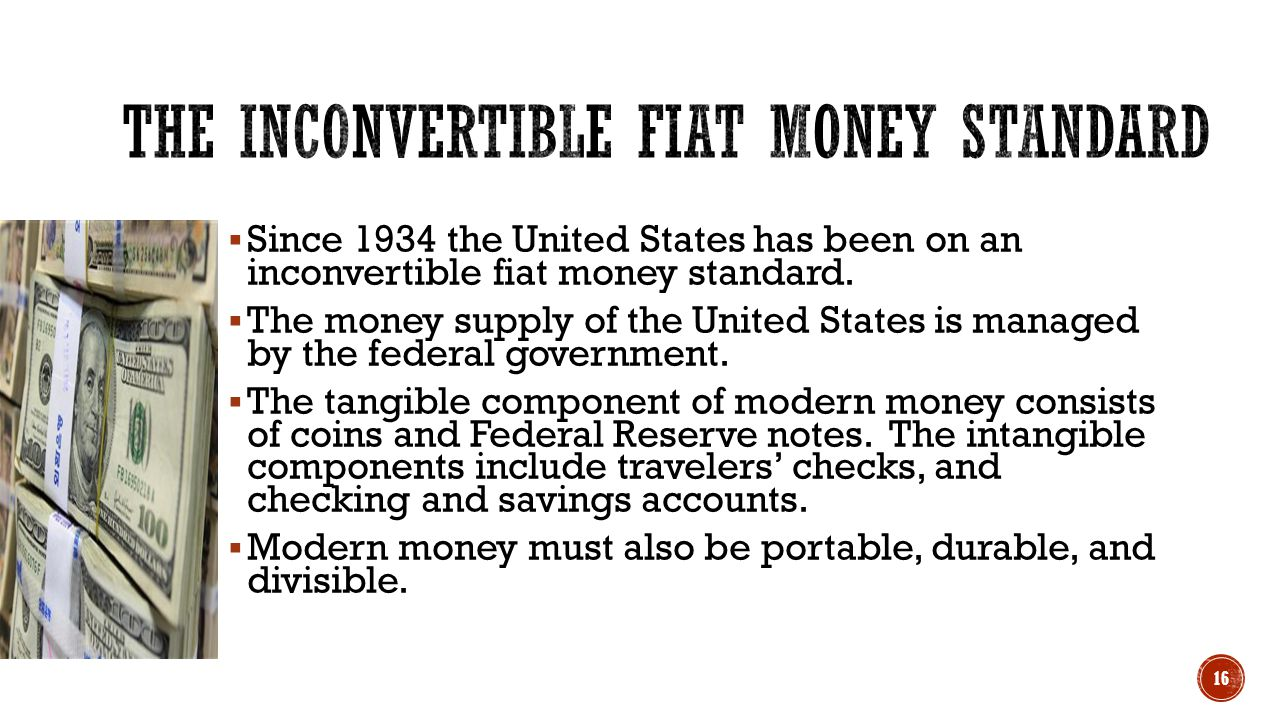 The Inconvertible Fiat Money Standard