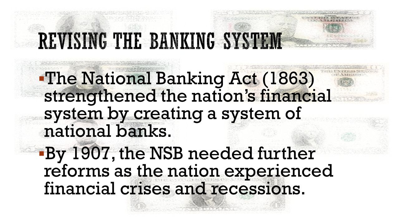 Revising the banking system