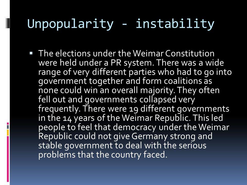 Unpopularity - instability