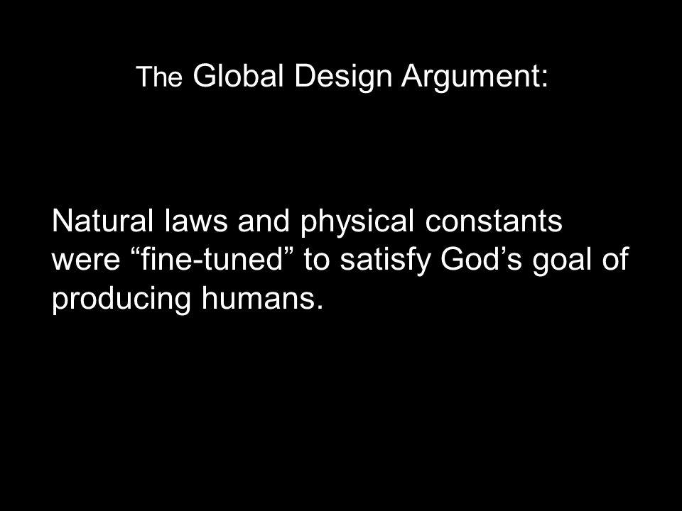The Global Design Argument:
