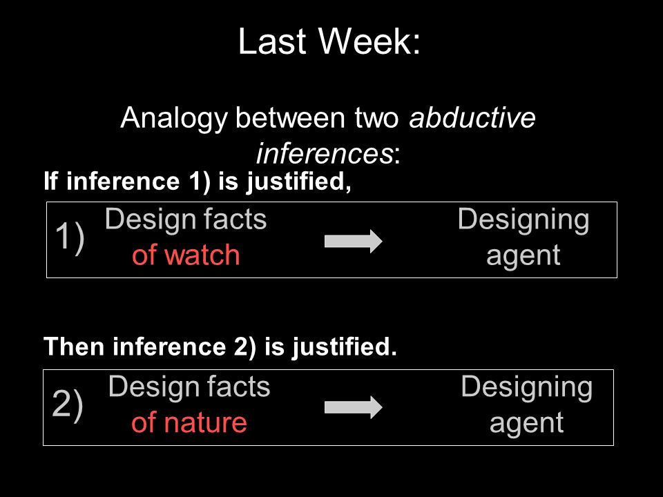 Analogy between two abductive inferences:
