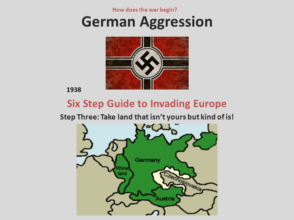 German Aggression Six Step Guide to Invading Europe