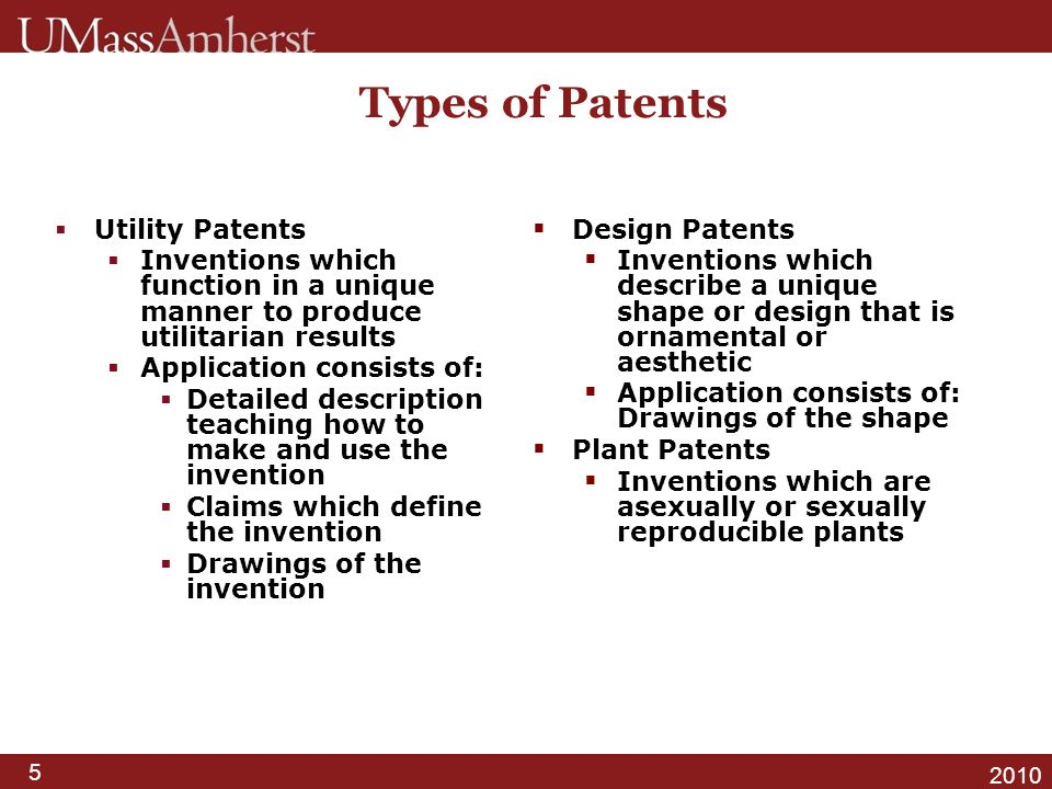 Types of Patents Utility Patents