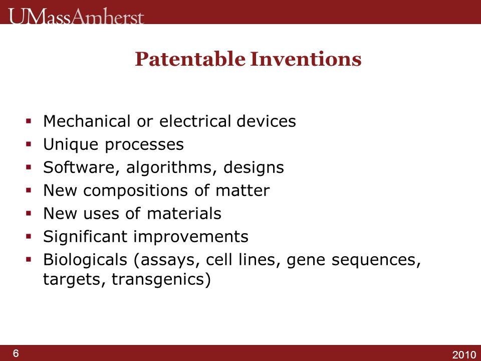 Patentable Inventions