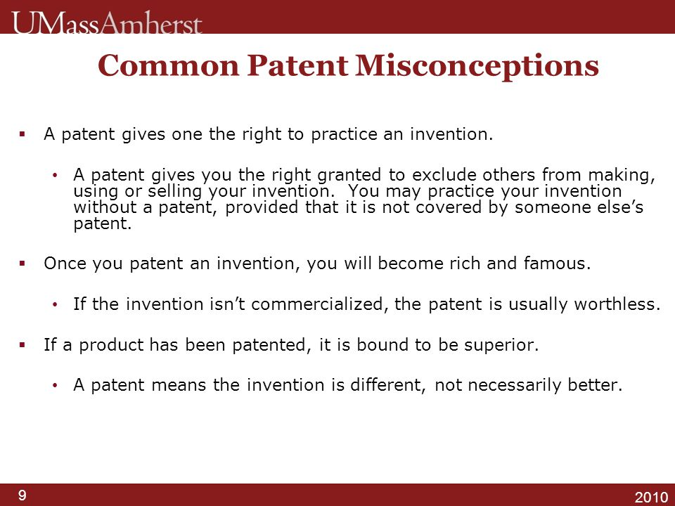 Common Patent Misconceptions