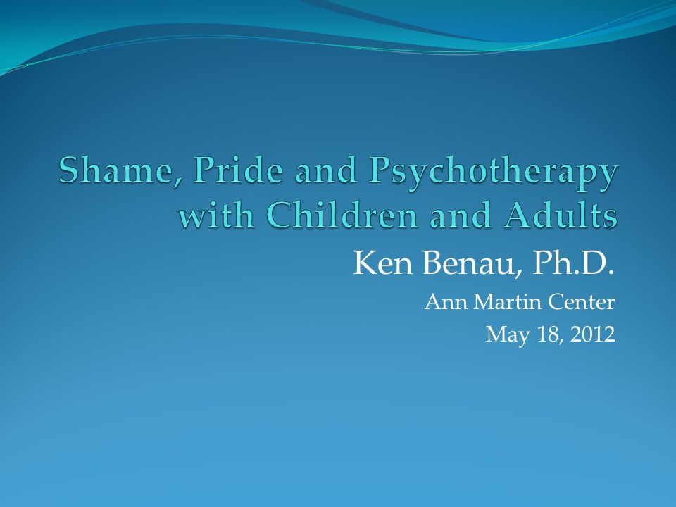 Shame, Pride and Psychotherapy with Children and Adults