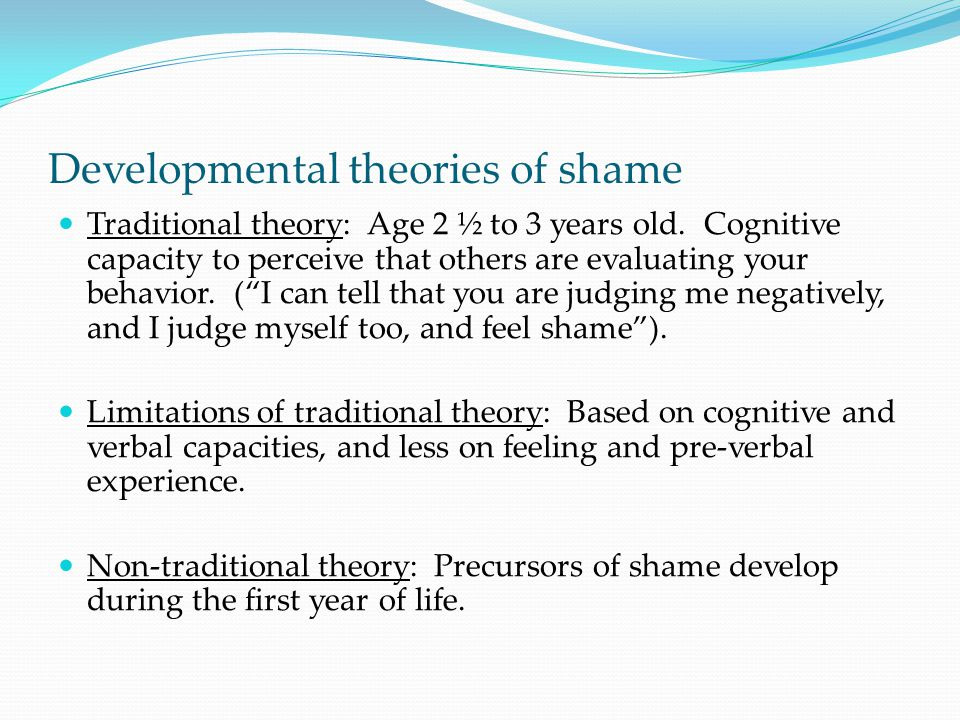 Developmental theories of shame