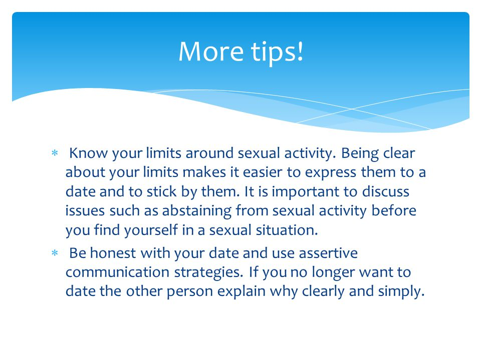 More tips!