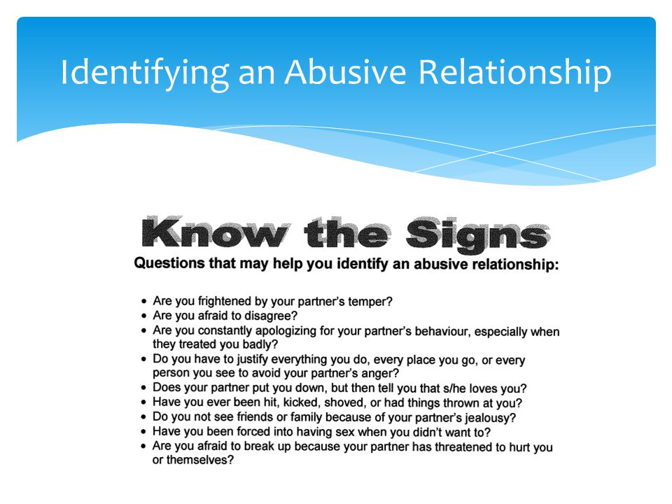 Identifying an Abusive Relationship