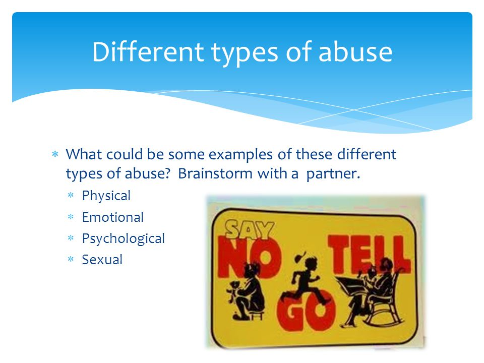 Different types of abuse
