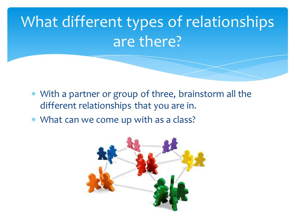 What different types of relationships are there