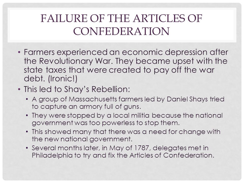 Failure of the Articles of Confederation