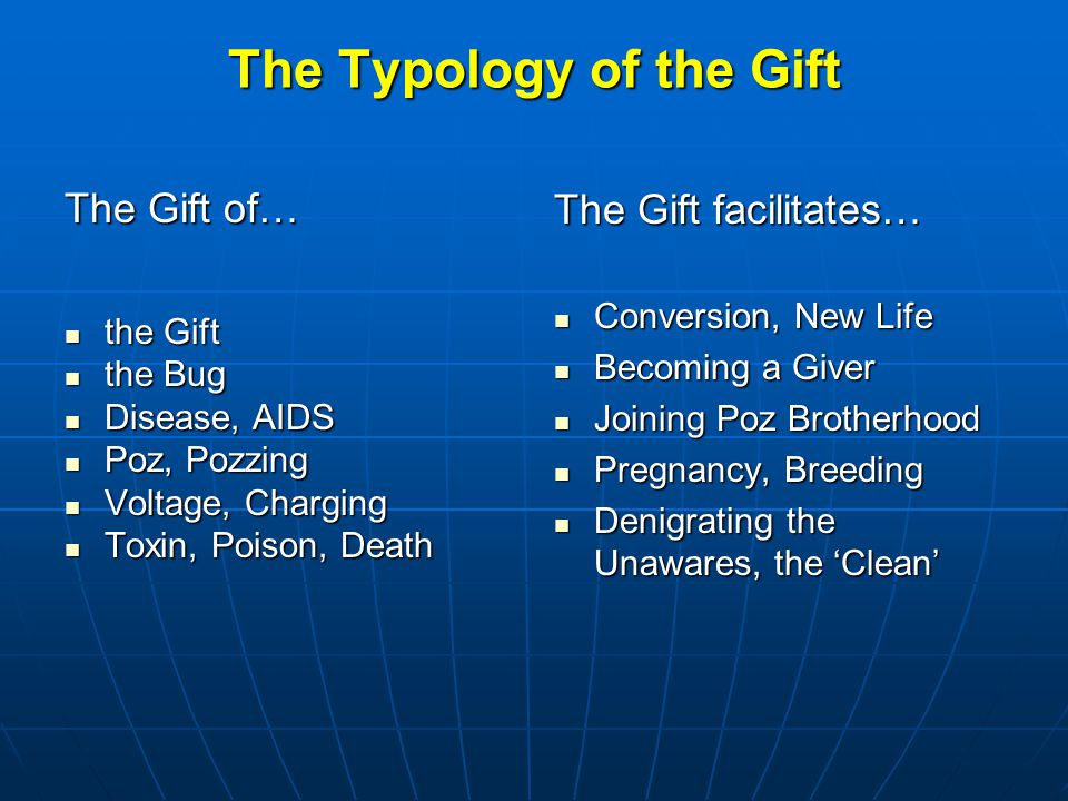 The Typology of the Gift