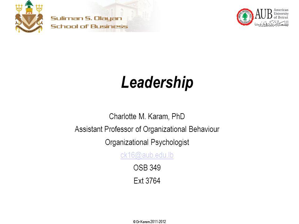 Leadership Charlotte M. Karam, PhD