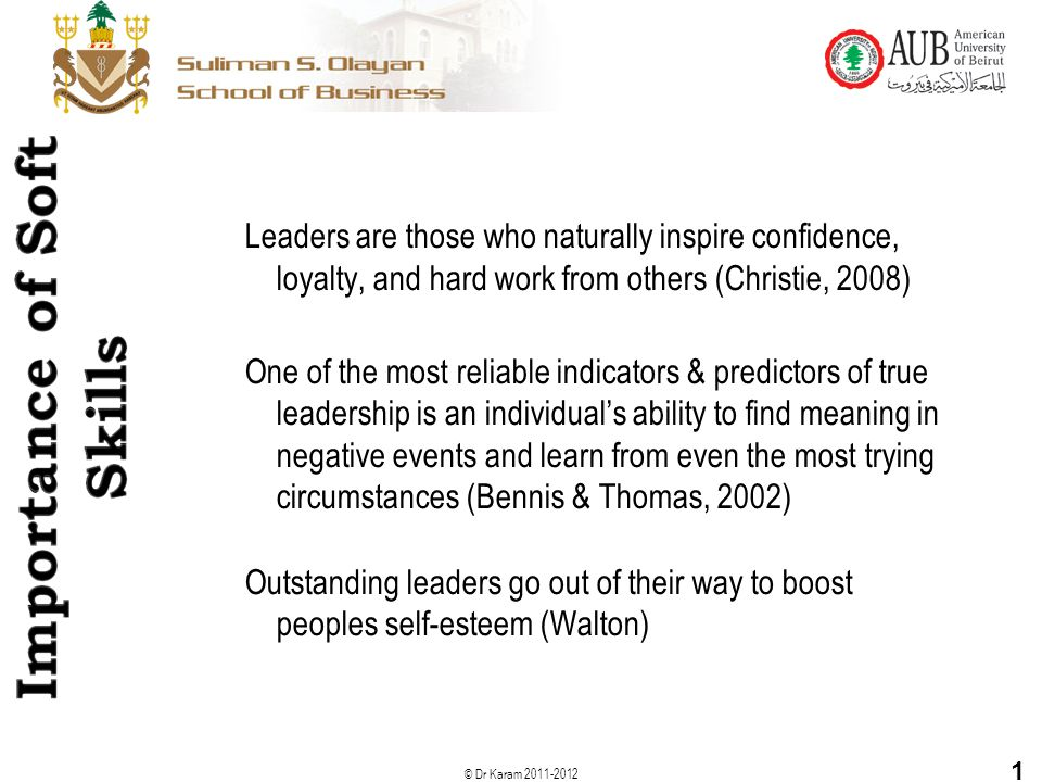 Leaders are those who naturally inspire confidence, loyalty, and hard work from others (Christie, 2008)