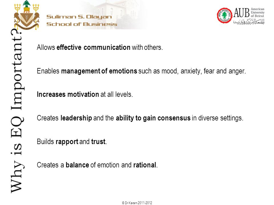Allows effective communication with others