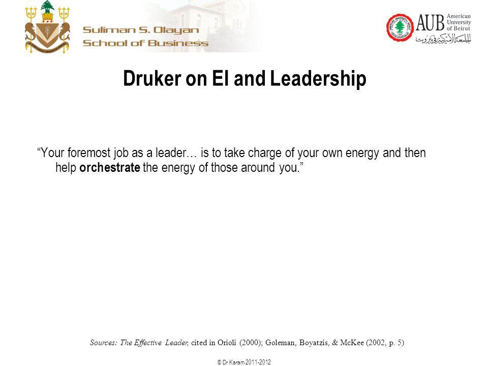 Druker on EI and Leadership