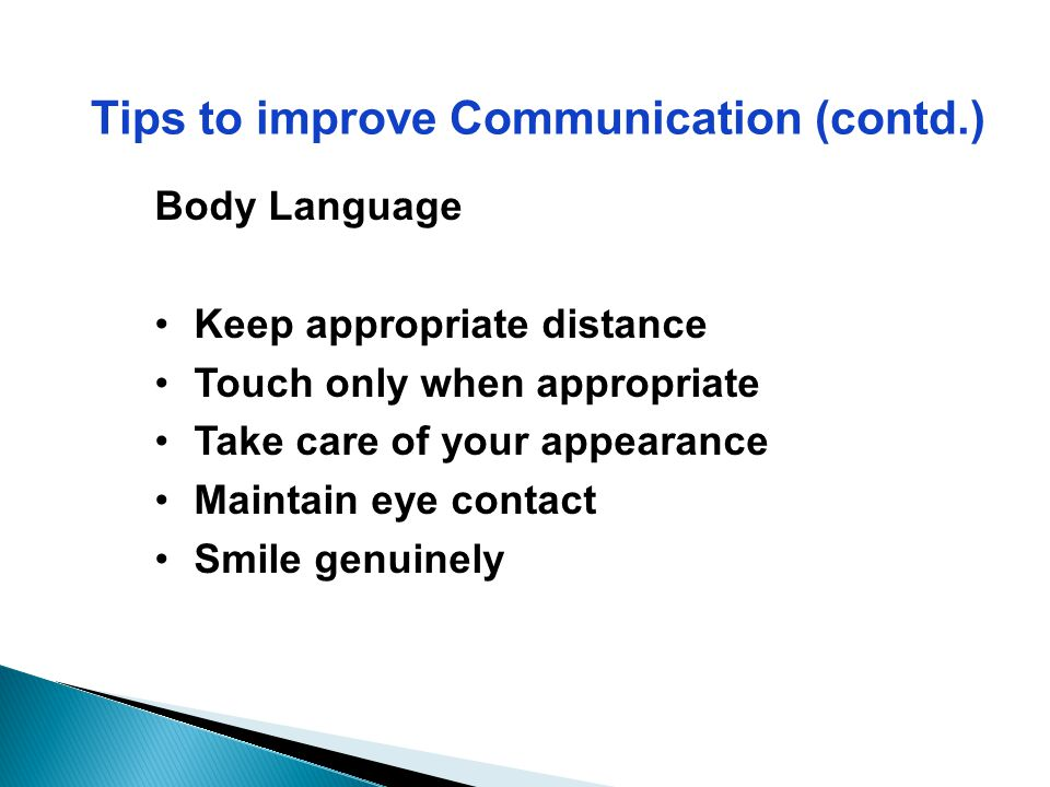 Tips to improve Communication (contd.)