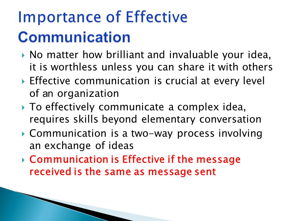 explain the importance of effective communication Explain the importance of effective communication to an individual with dementia one reason that effective communication is very important for the individual with.