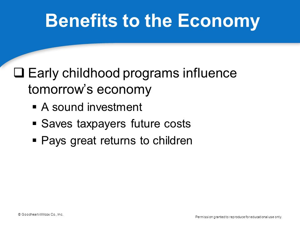 Benefits to the Economy