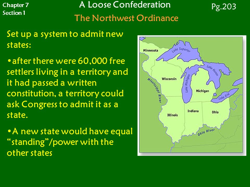 A Loose Confederation The Northwest Ordinance