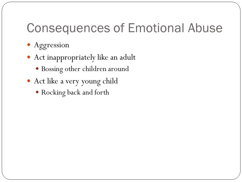 Consequences of Emotional Abuse