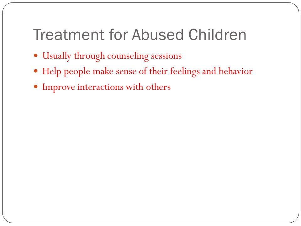Treatment for Abused Children