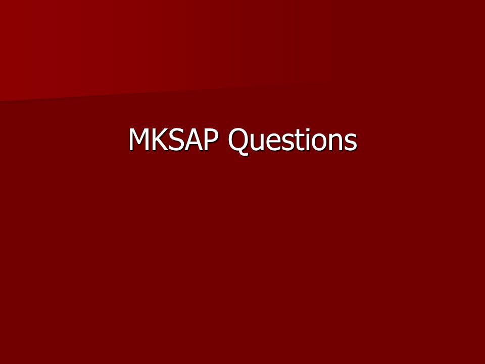 MKSAP Questions