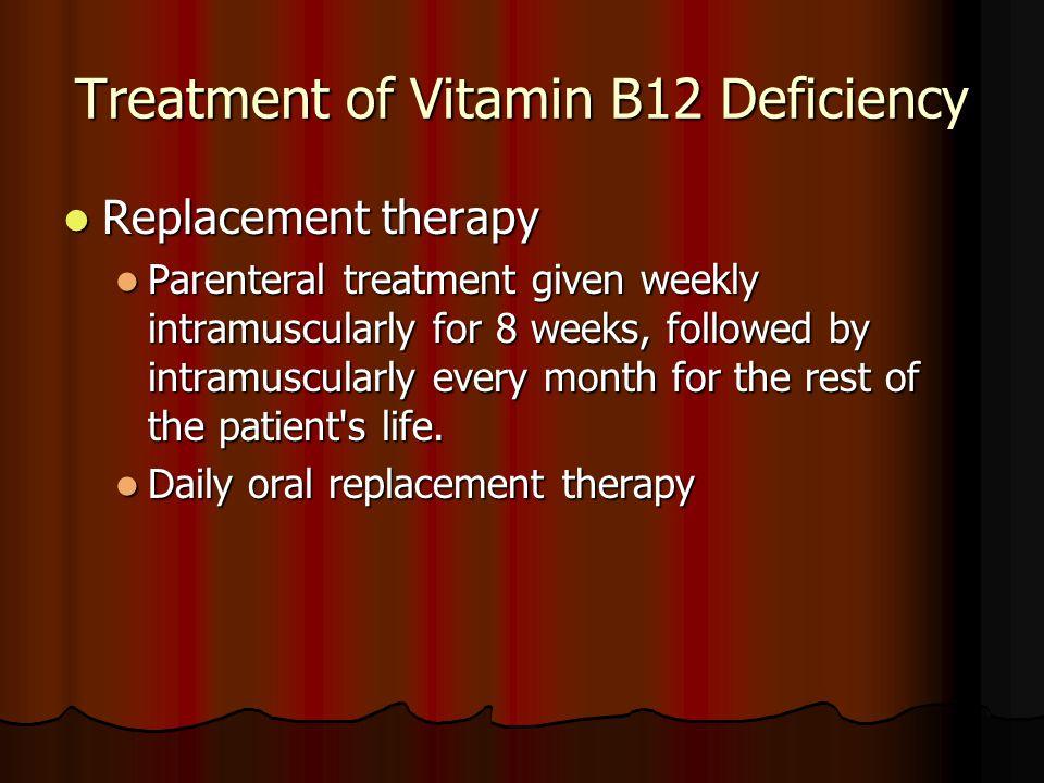 Treatment of Vitamin B12 Deficiency