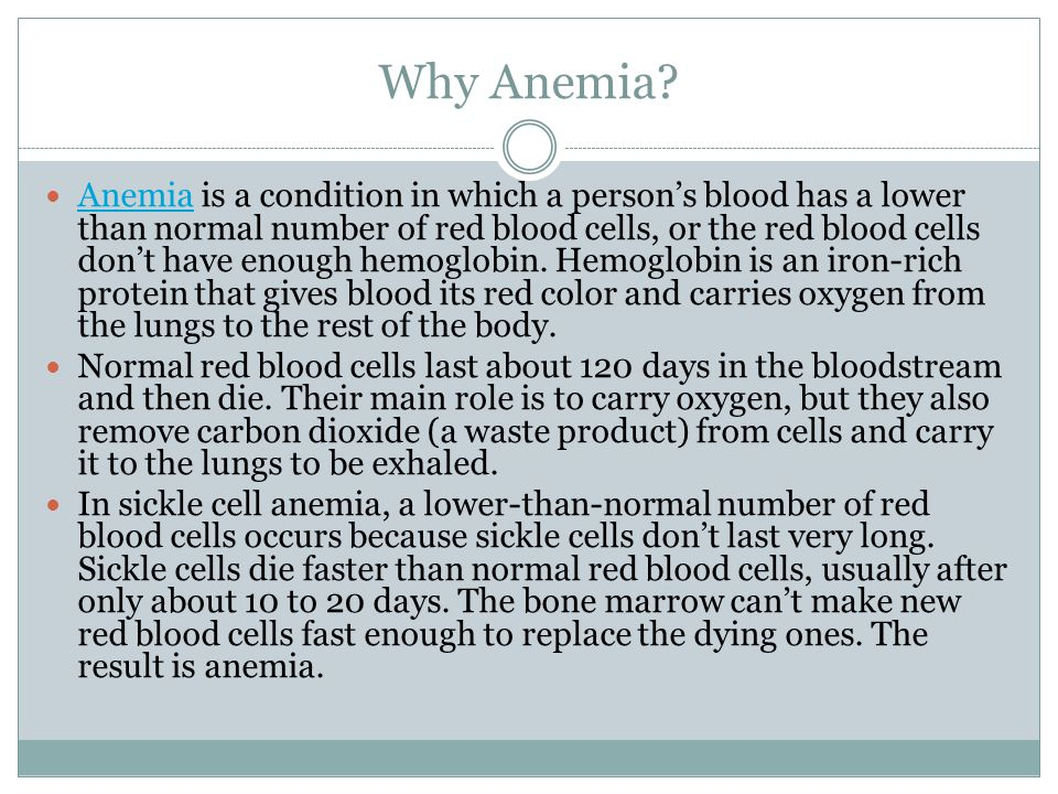 Why Anemia