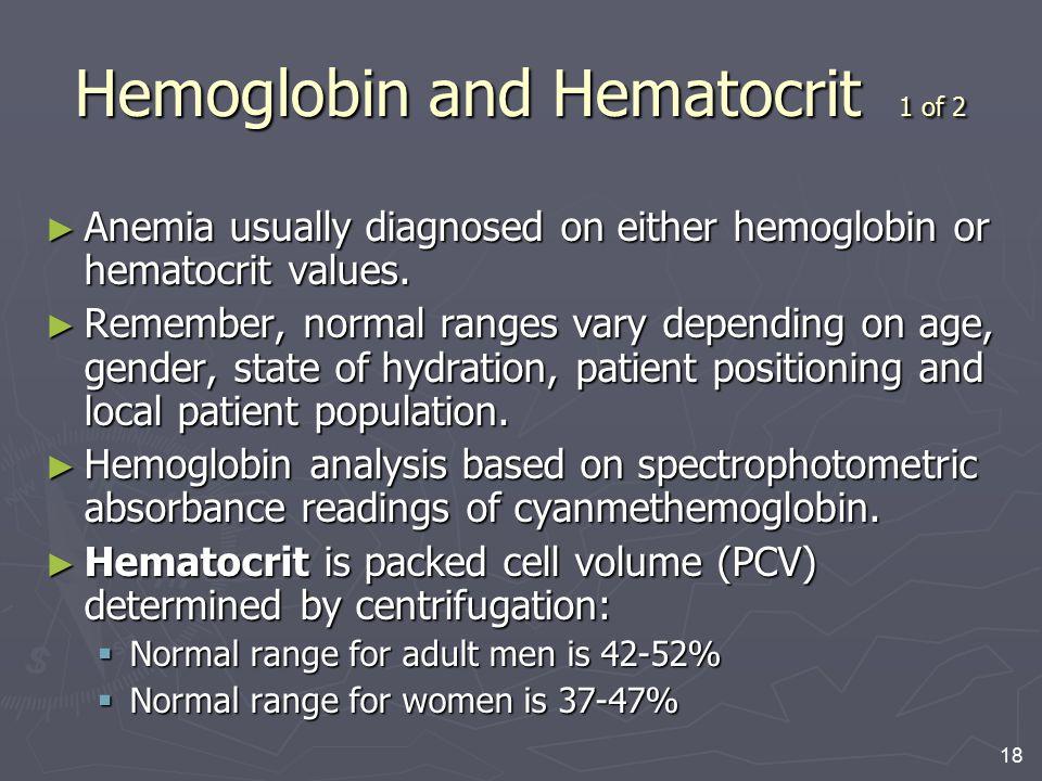 Hemoglobin and Hematocrit 1 of 2
