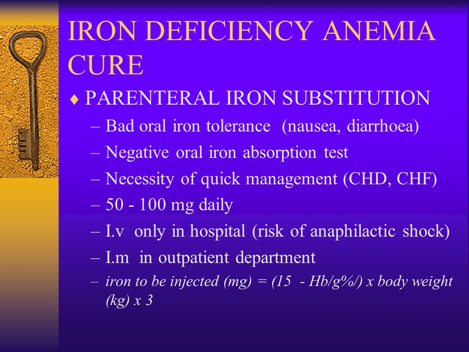 IRON DEFICIENCY ANEMIA CURE
