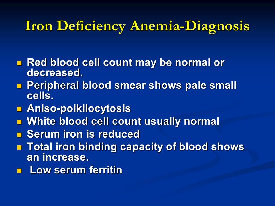 Iron Deficiency Anemia-Diagnosis