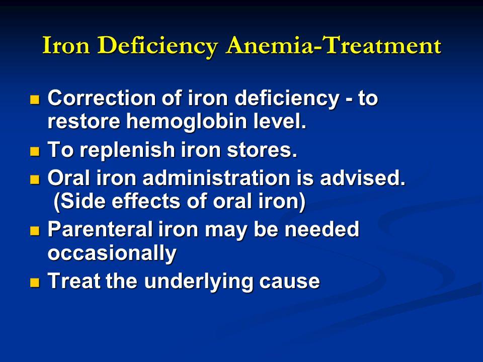 Iron Deficiency Anemia-Treatment