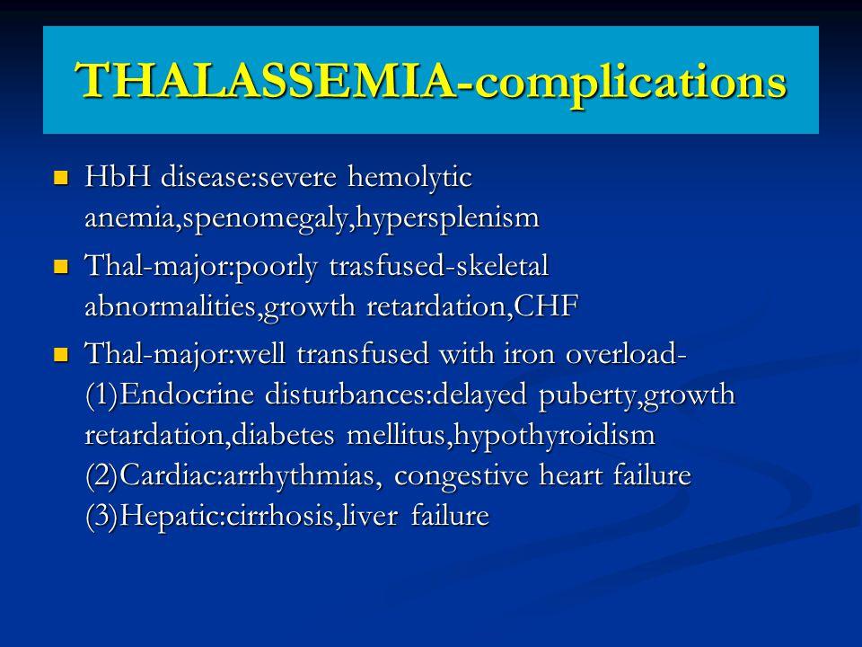 THALASSEMIA-complications