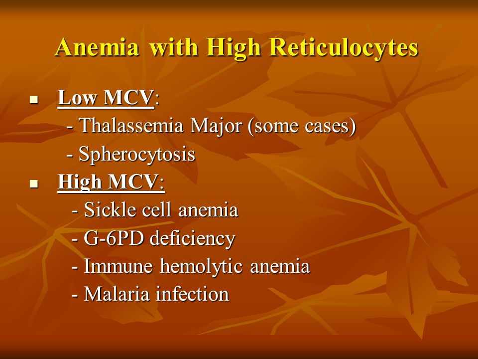 Anemia with High Reticulocytes