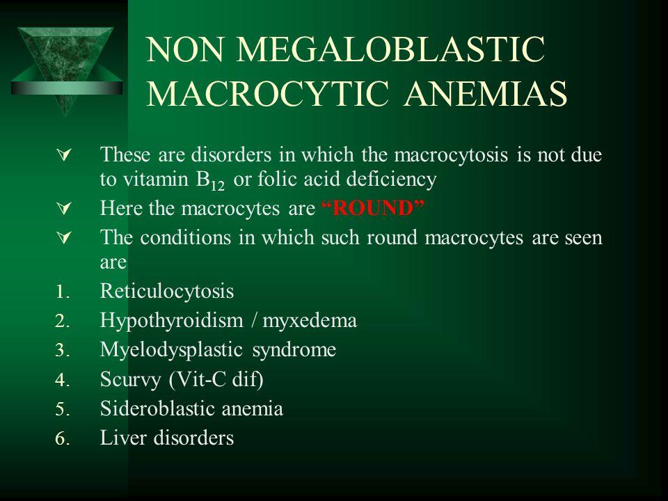 NON MEGALOBLASTIC MACROCYTIC ANEMIAS