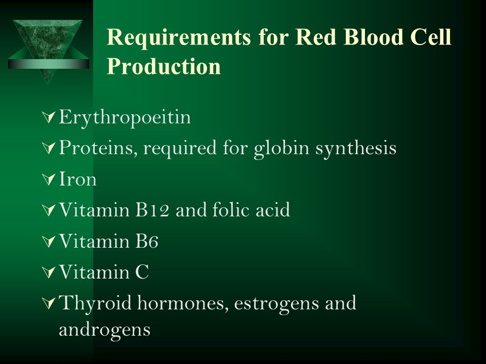 Requirements for Red Blood Cell Production