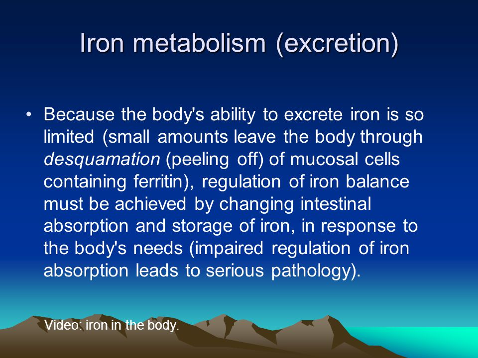 Iron metabolism (excretion)