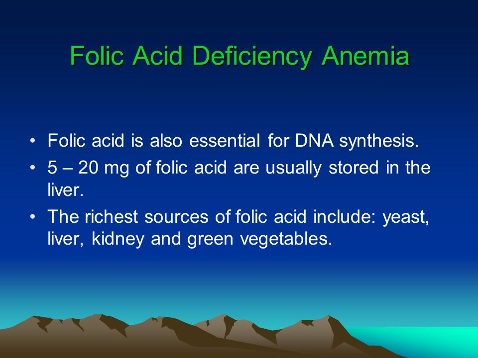 Folic Acid Deficiency Anemia