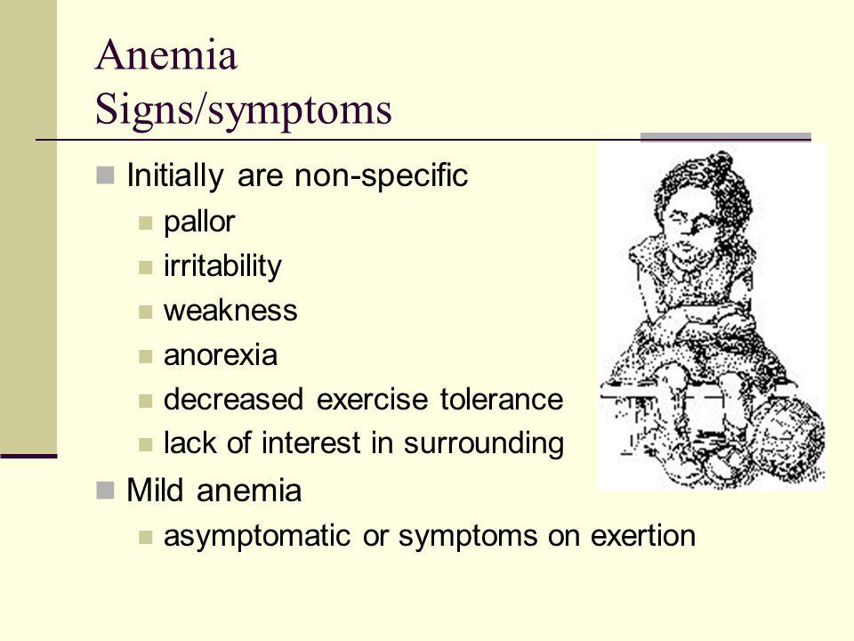 Anemia Signs/symptoms