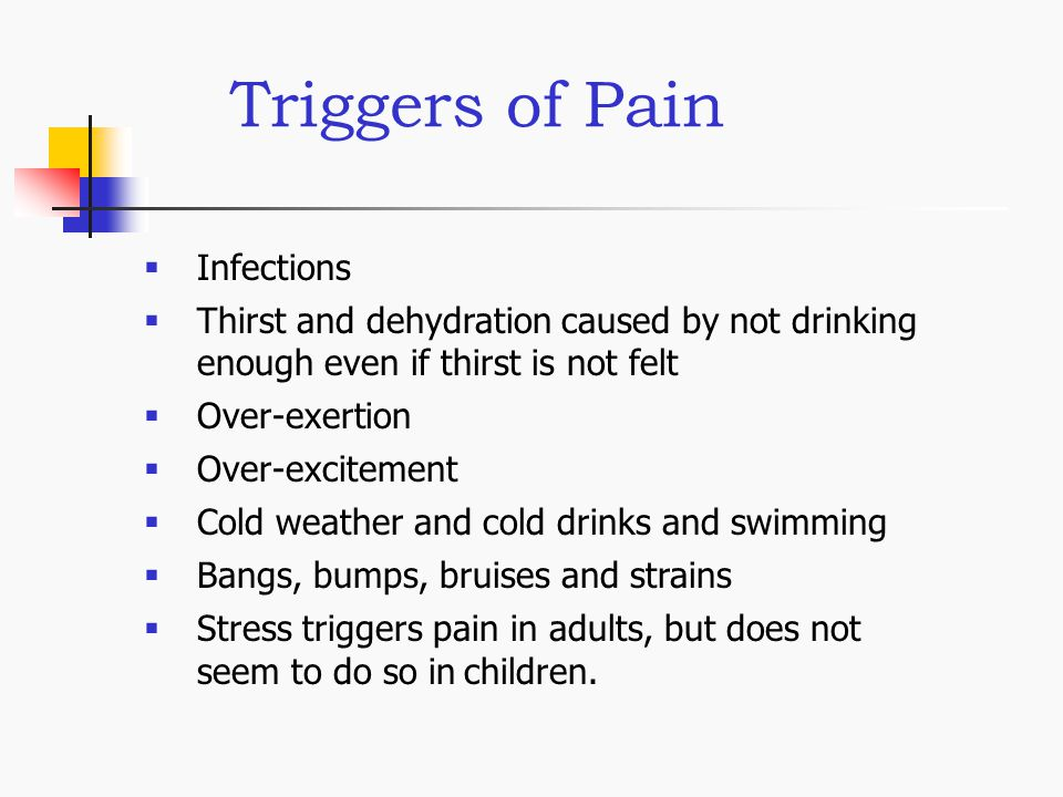 Triggers of Pain Infections