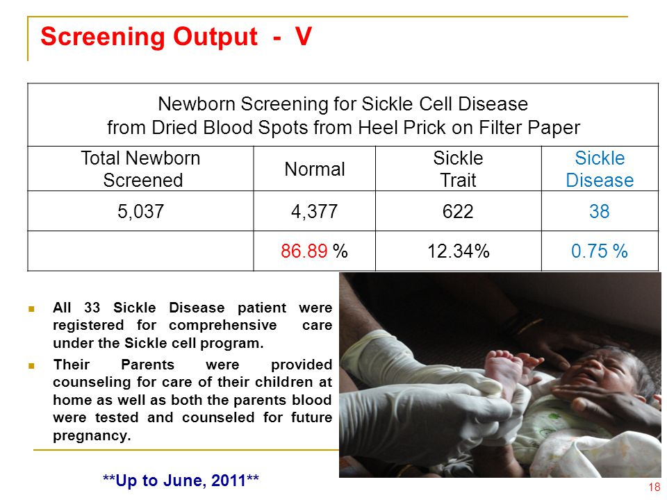 Screening Output - V Newborn Screening for Sickle Cell Disease