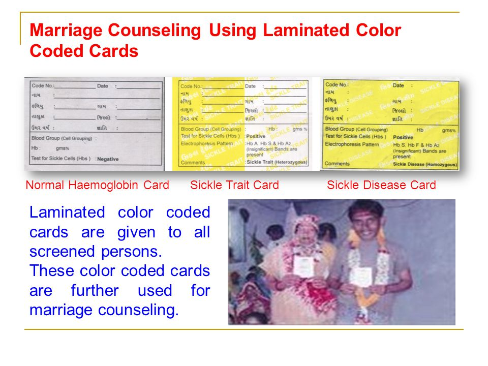 Marriage Counseling Using Laminated Color Coded Cards