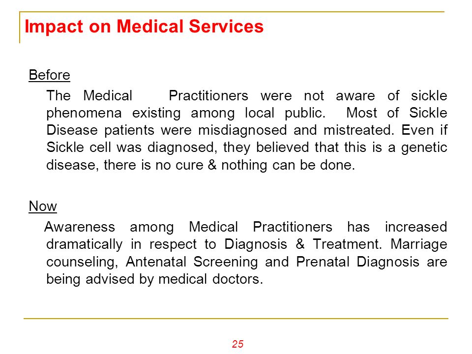 Impact on Medical Services
