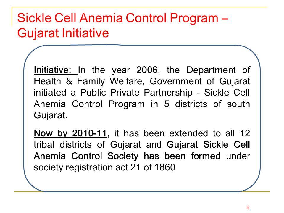 Sickle Cell Anemia Control Program – Gujarat Initiative