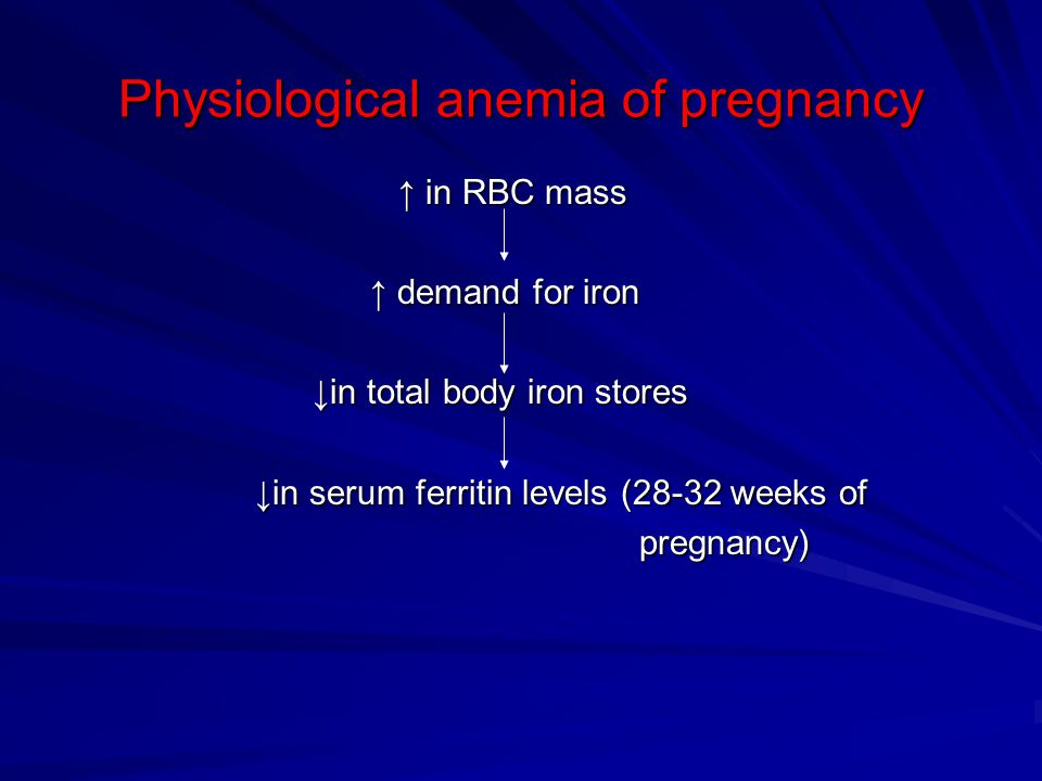 Physiological anemia of pregnancy