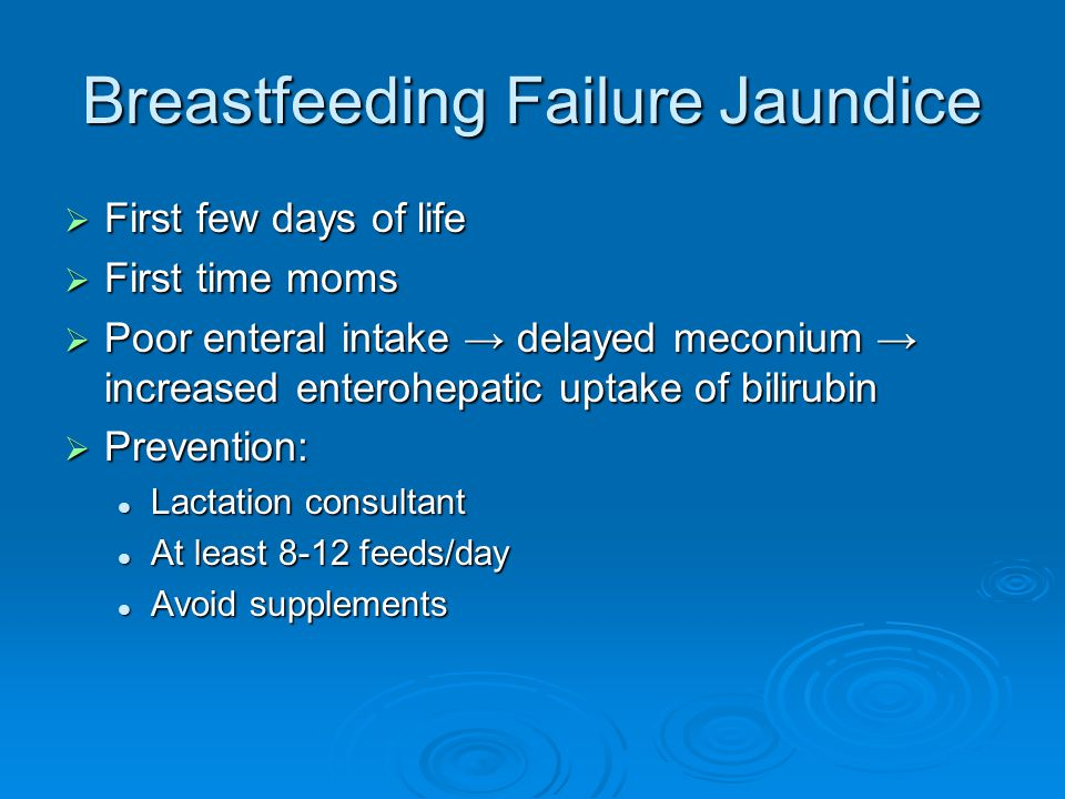 Breastfeeding Failure Jaundice